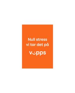 Plakat - Null stress vi tar det på Vipps